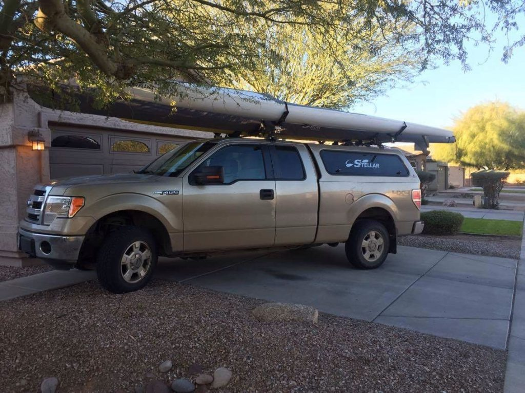 Ford F150 and a Stellar Kayak.
