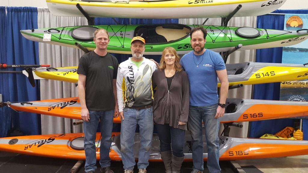 The Stellar Kayak team with 2 Paddling 5.