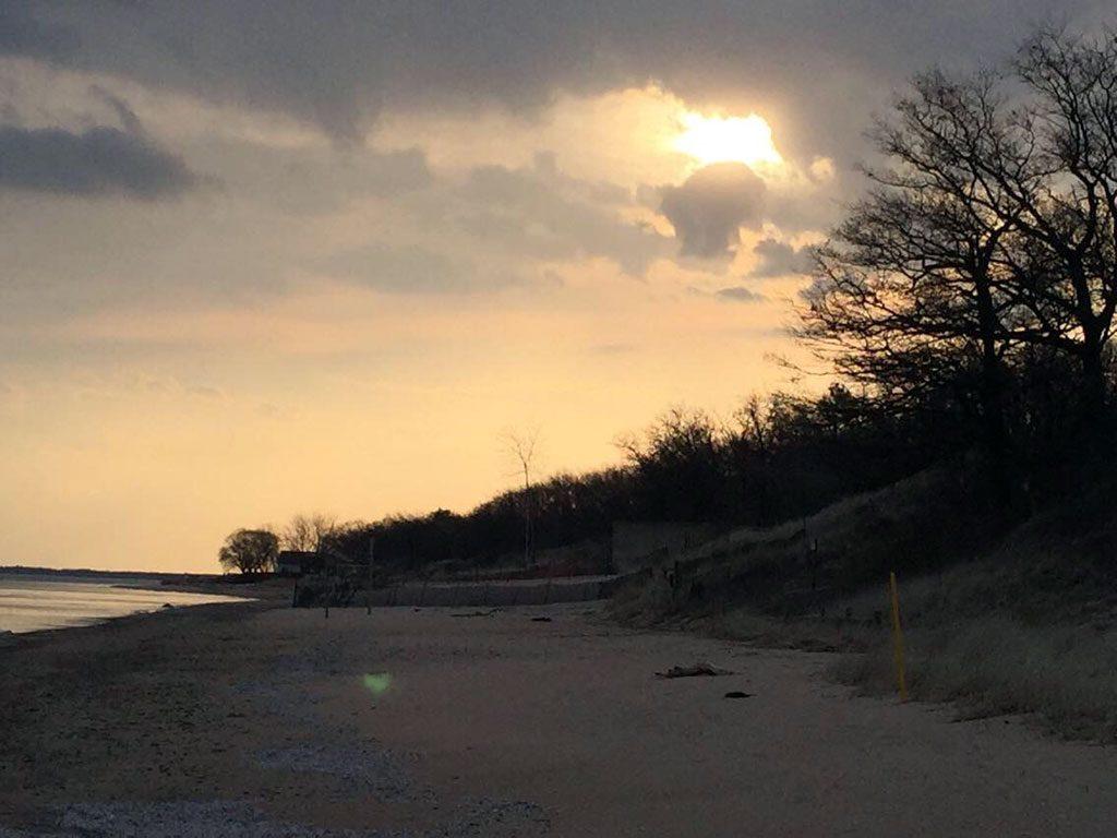 Launch area on Monday 4/10/17 from Sleeper Start Park beach.