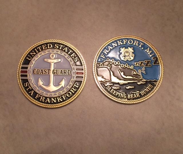 Frankfort Coast Guard station medallions.