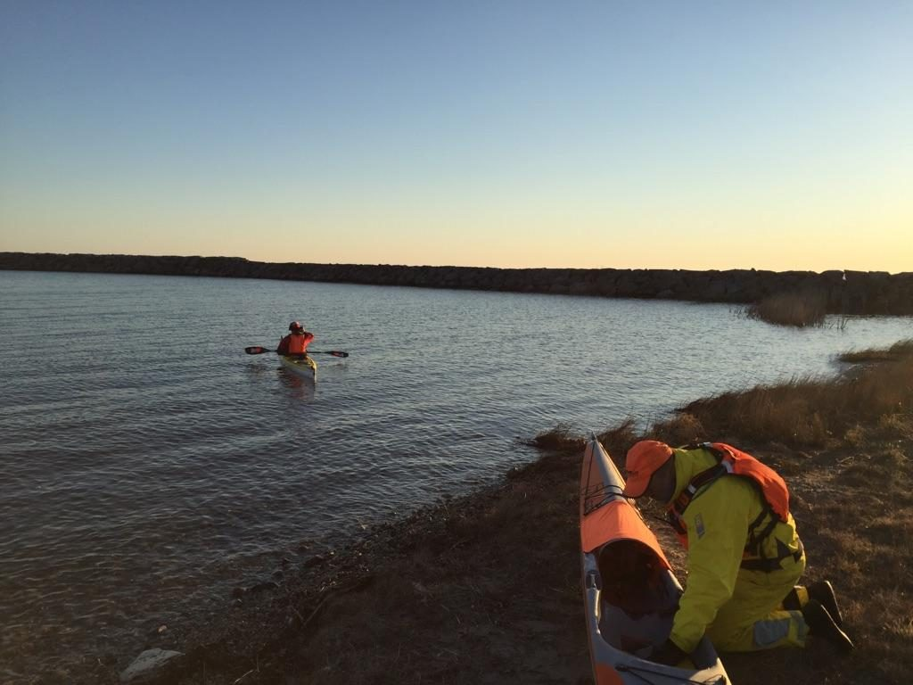 Hammond Bay State Refuge Harbor, Michigan kayak launch on 4/22/17.