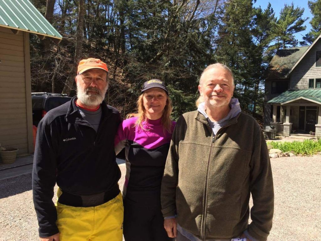 Joe and Peggy with Glen from Frankfort, Michigan.