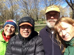 Joe and Peggy with John and Missy from Orchard Beach State Park, Michigan.