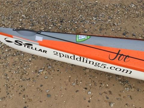 Joe's orange Stellar Kayak.