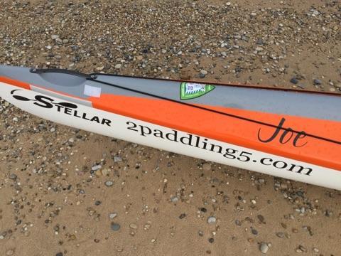 Joe's orange Stellar Kayak.