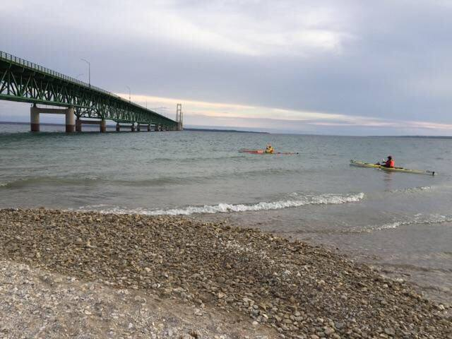 2 Paddling 5 kayaking at the Mackinac Bridge Mackinaw City, MI 49701.