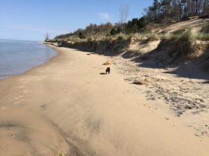 North Beach Park beach in Ferrysburg, Michigan.