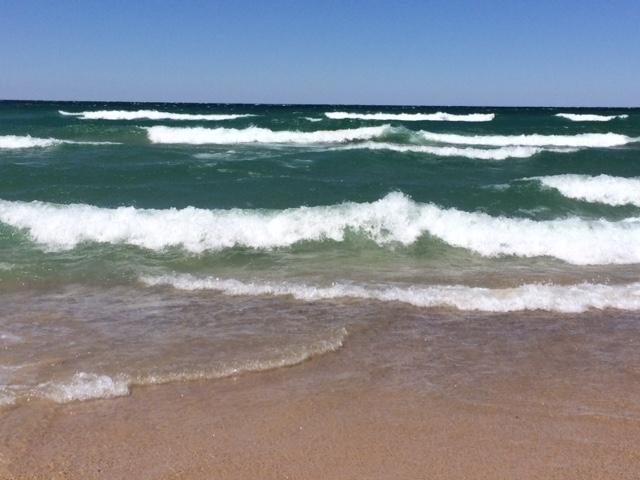 Orchard Beach Michigan waves.