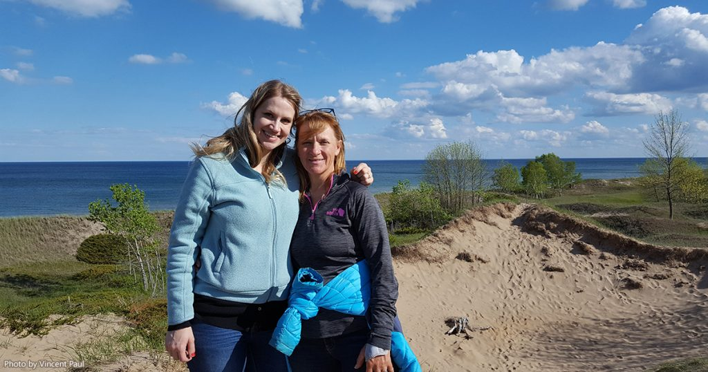 Peggy and Audra at Kohler-Andrae State Park.