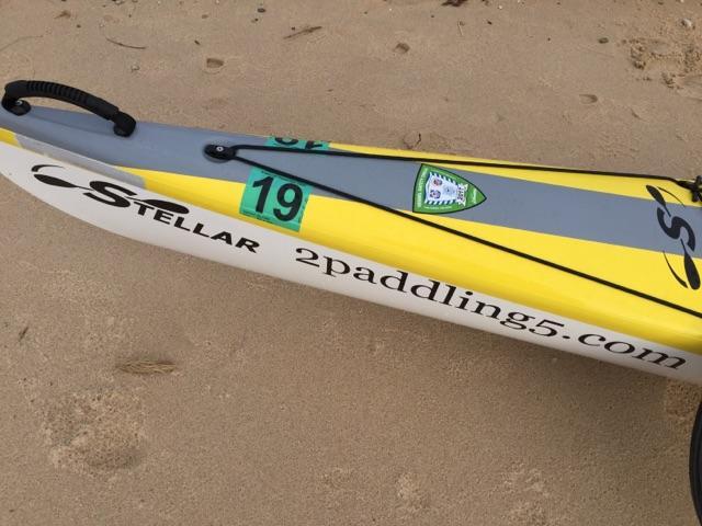 Peggy Gabrielson's yellow Stellar Kayak.