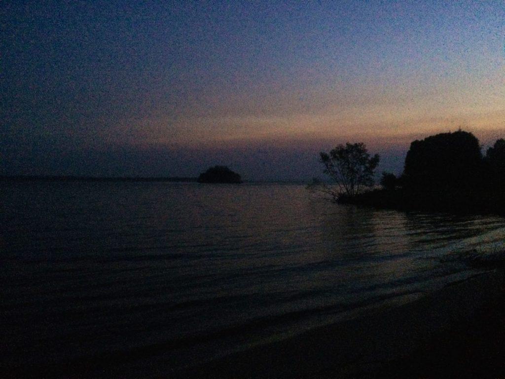 Evening view from little island near Sault Ste. Marie.