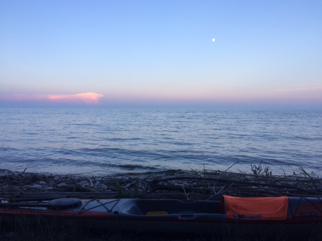 Night sky near Baileys Harbor, Wisconsin.