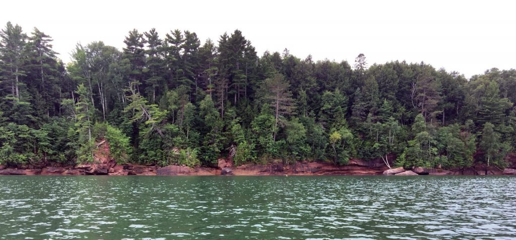 Apostle Islands National Lakeshore shoreline.