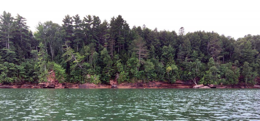 Apostle Islands National Lakeshore shoreline.