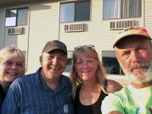 Joe and Sheila Tormala with Joe and Peggy of 2 Paddling 5. Joe Tormala served in Iraq with Dan Gabrielson.