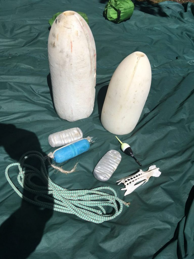 Joe's big finds in Northern Michigan. Buoys and ropes.