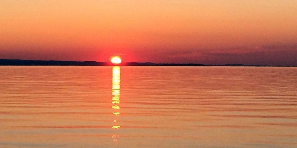 Lake Superior sunset near Marquette, Michigan.