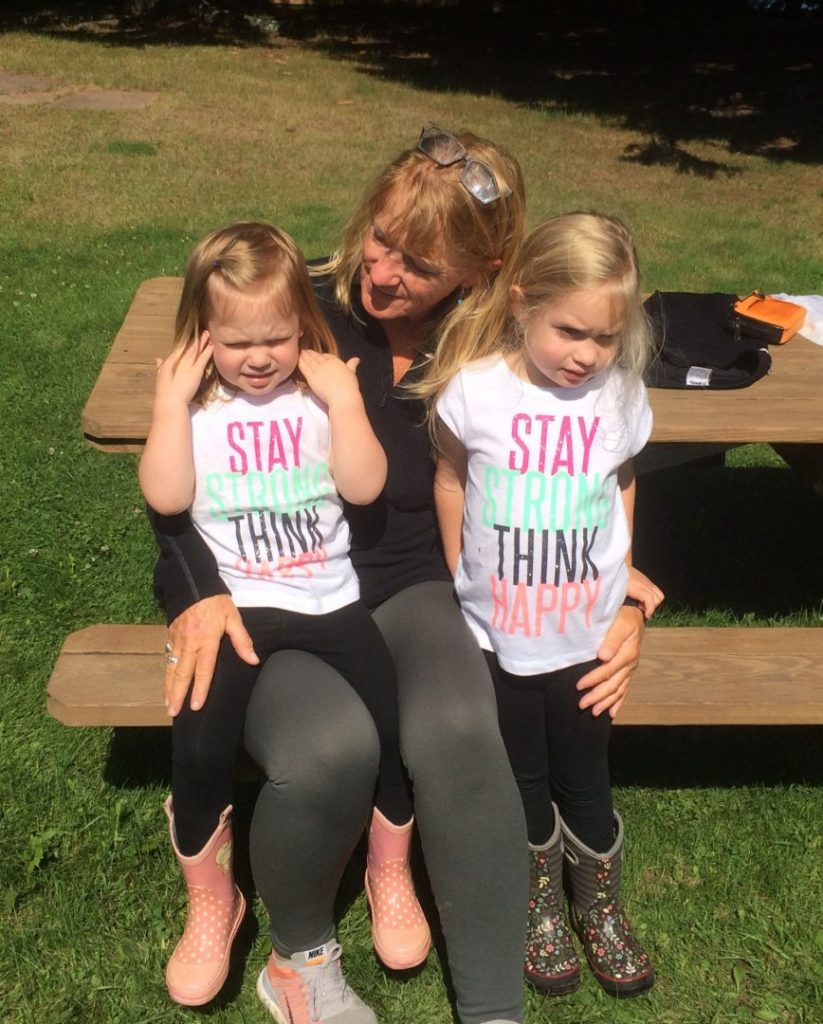 Peggy Gabrielson with her Granddaughters.