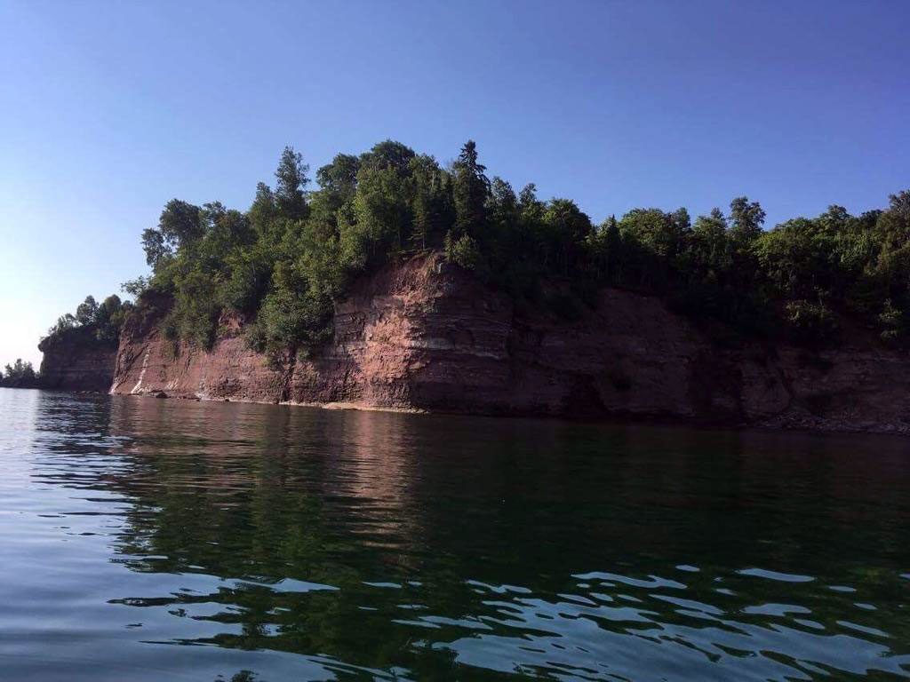 Rock walls 15 miles from Munising, Michigan.
