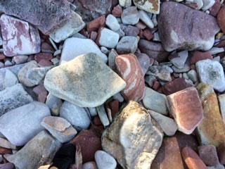 Rocks on a Lake Superior shore.