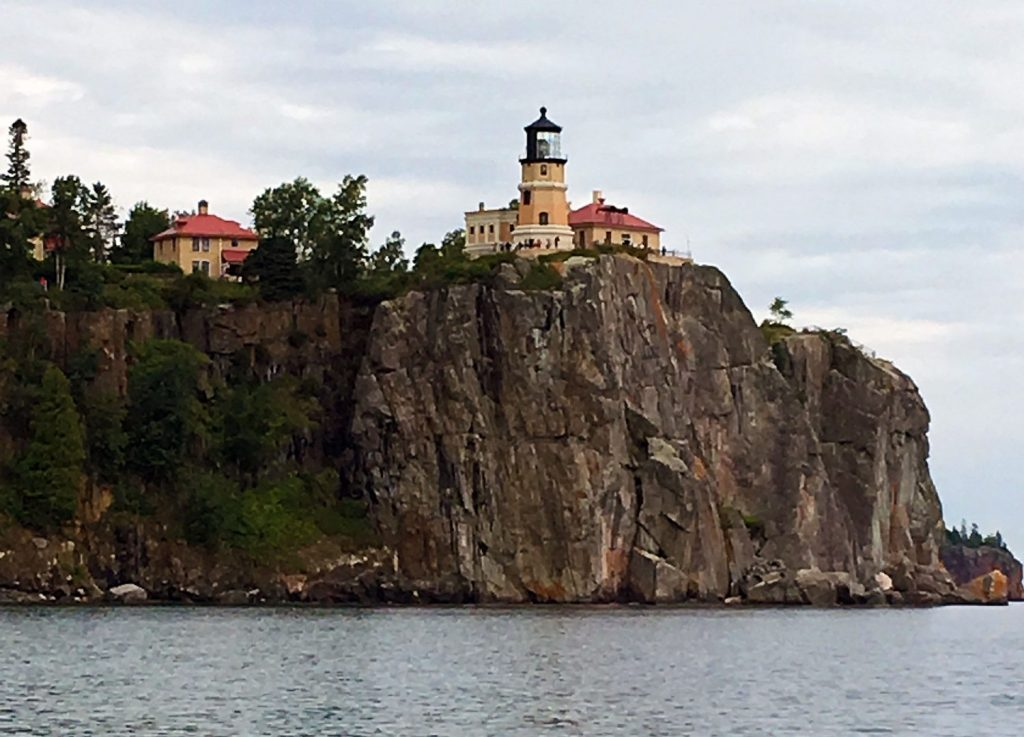 Split Rock Lighthouse viewed from Lake Superior.