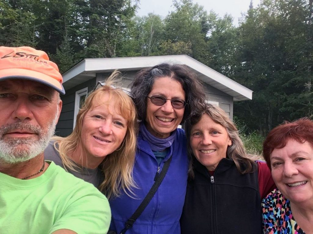 Friends from the Grand Marais Paddling Club.