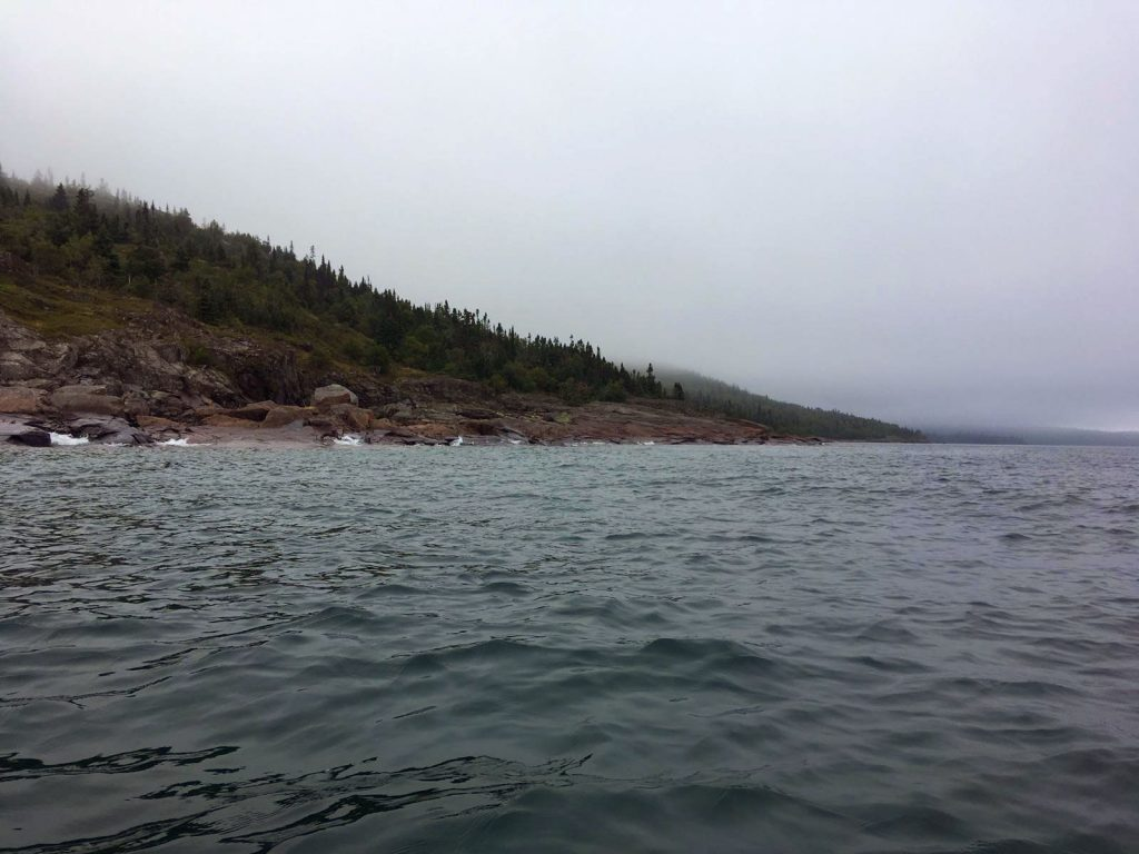 Island between Marathon and Ripple, Ontario, Canada.