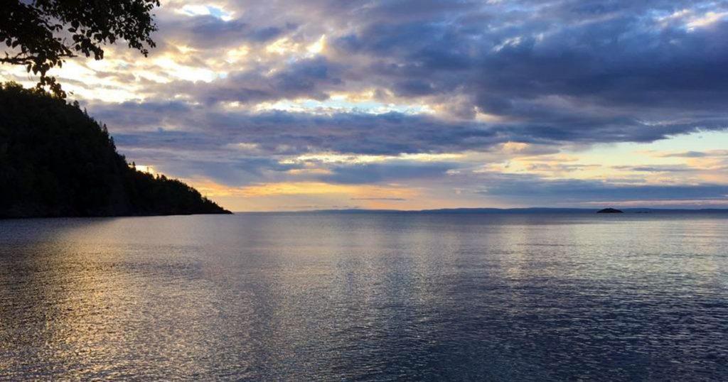 Lake Superior in the Nipigon Canada area.