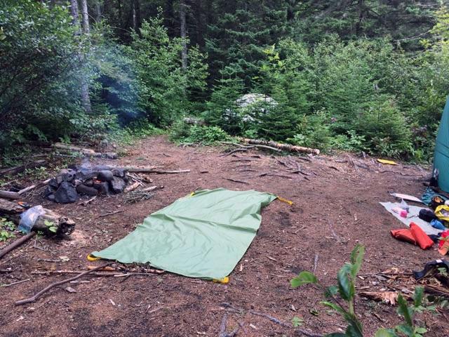 Campsite at Woodbine Harbour, Ontario, Canada.