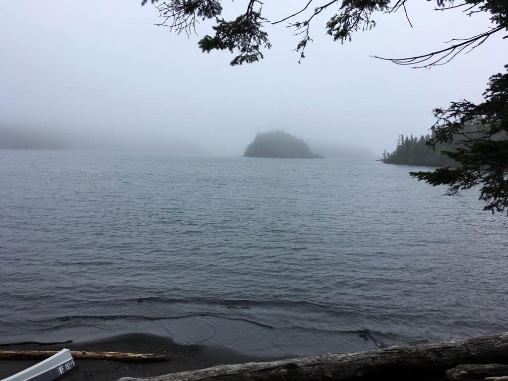 Fog on Woodbine Harbour, Ontario, Canada.