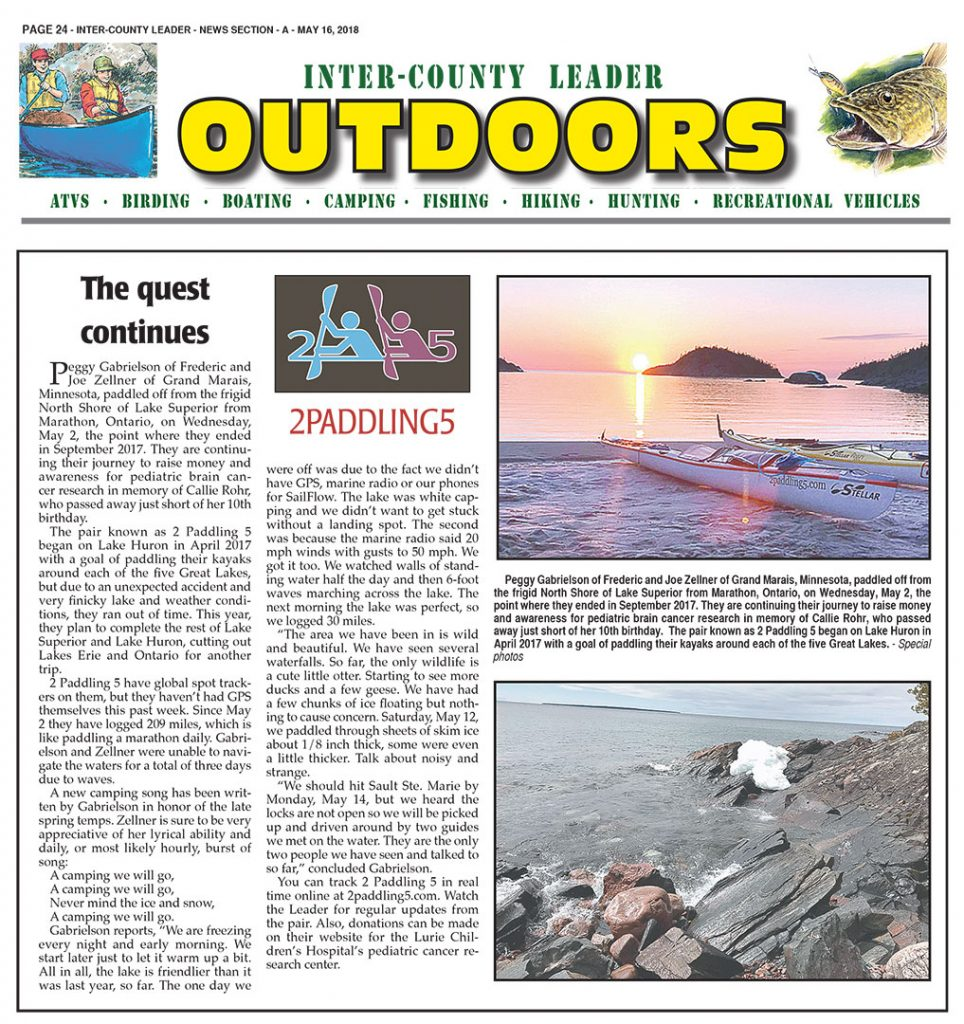 Inter-County Leader OUTDOORS: May 16th, 2018 Section A.