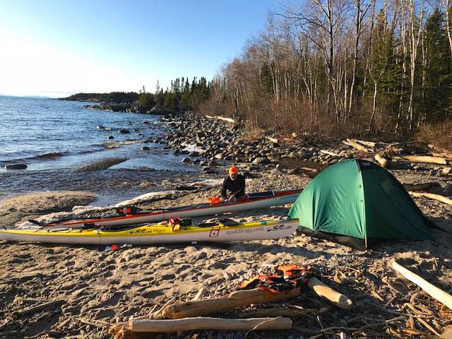 Lake Superior campsite on 5/2/18.