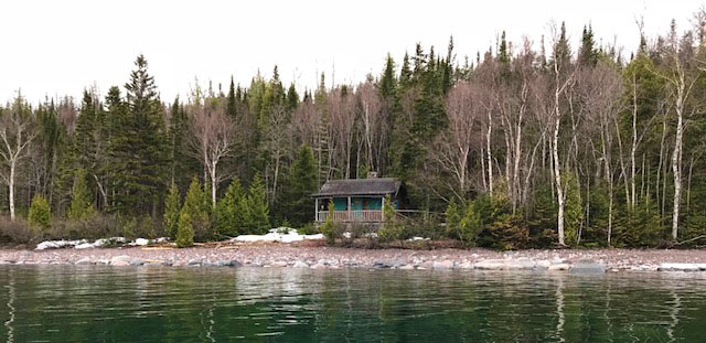 Lake Superior cabin near Wawa, Ontario, Canada.
