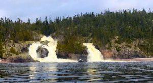 Otter Island waterfall, Pukaskwa Park.